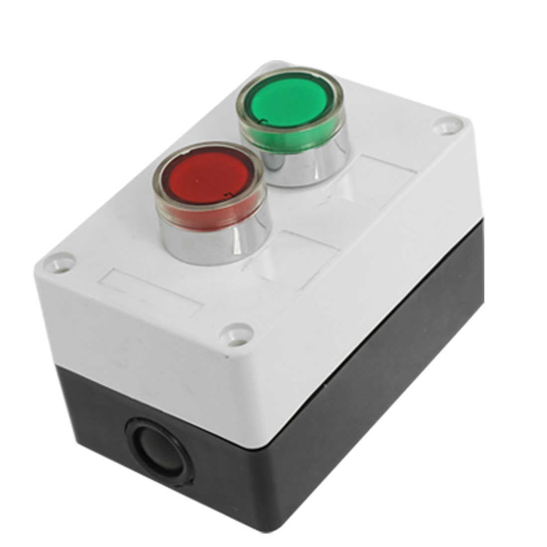 DC 24V Green Red Signal Lamp NC NO Momentary Push Button Switch Control Box