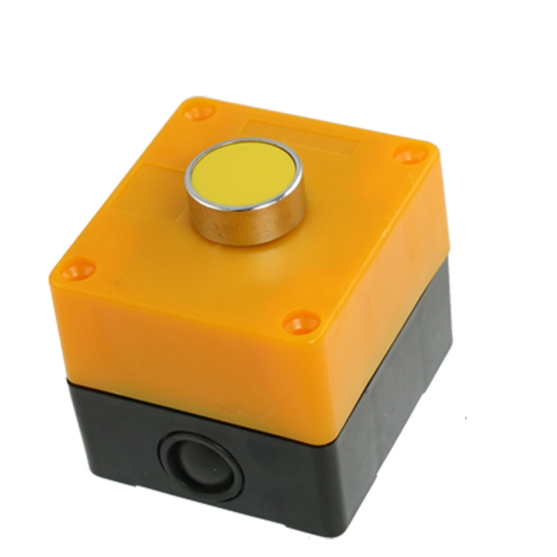 AC 240V 3A Normally Open Yellow Momentary Flat Pushbutton Switch Station