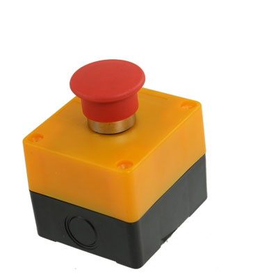 AC 240V 3A Normally Closed Red Mushroom Latching Push Button Switch Station