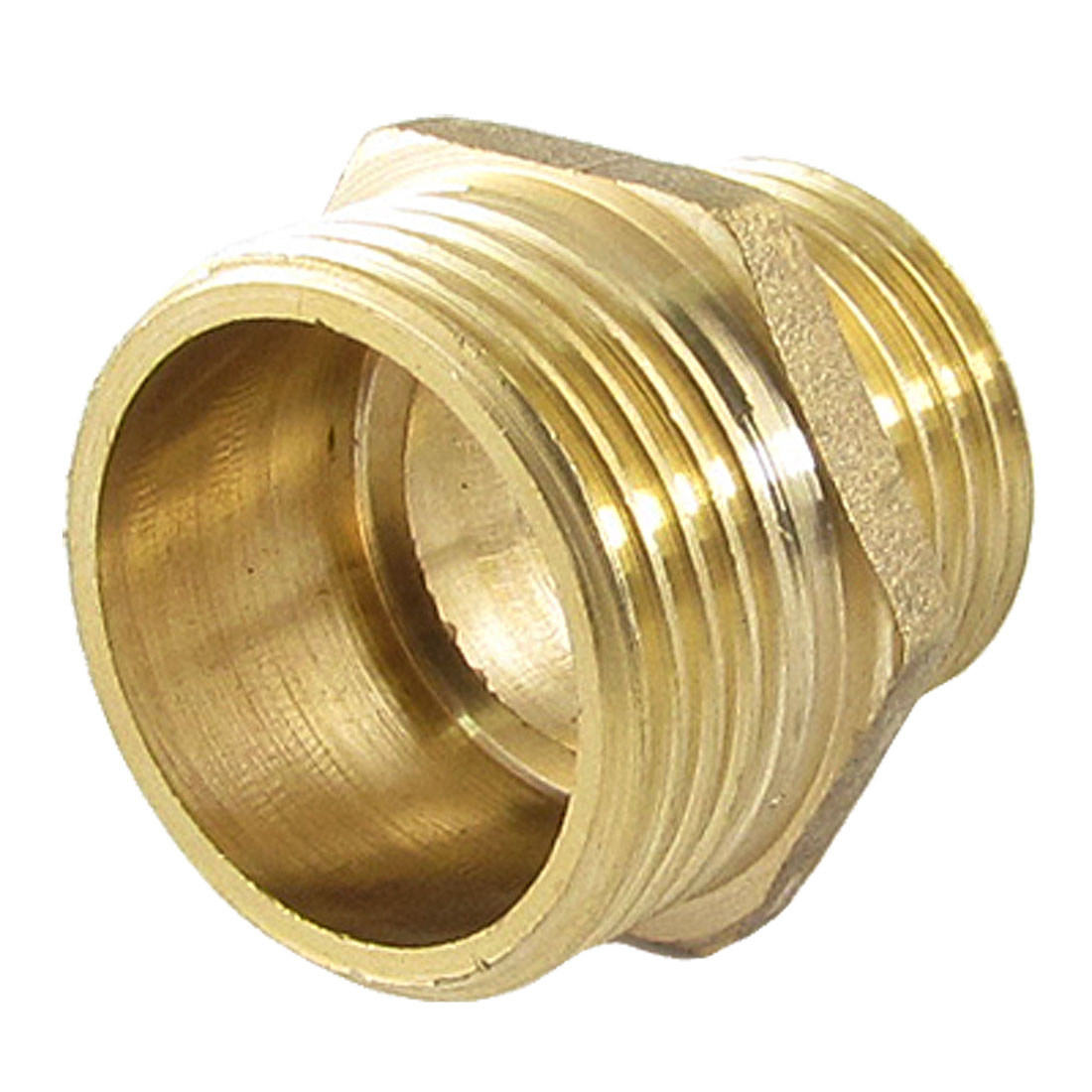 "4/5"" to 1"" Male Thread Hex Reducing Nipple Brass Adapter for Air Pneumatic Pipe"