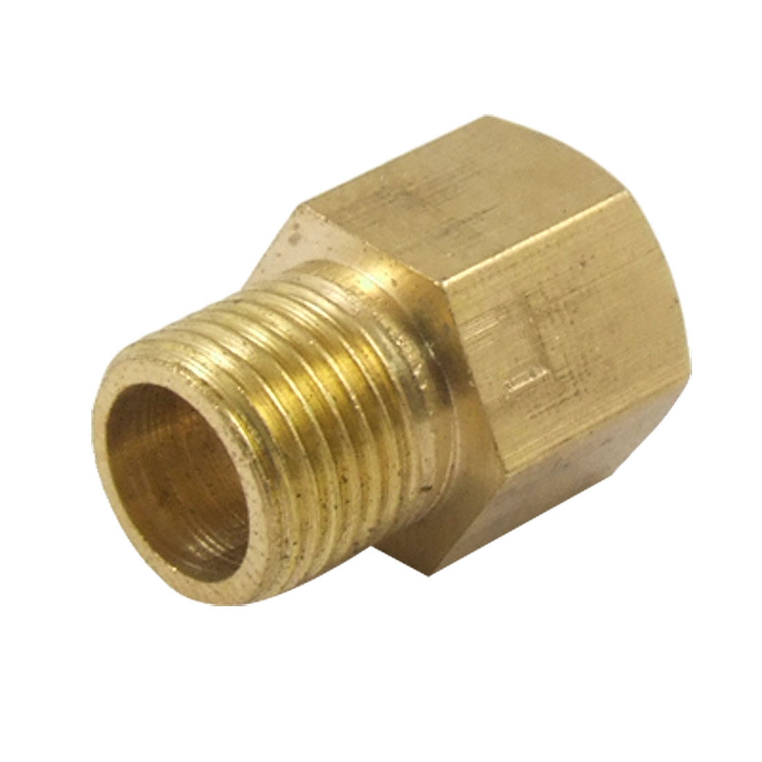 Pipe Fitting Connector 9 x 9mm Thread Hex Head Bushing Adapter