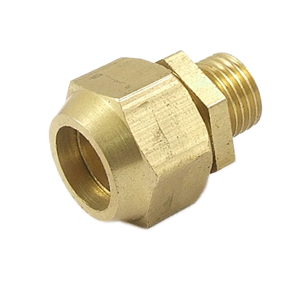 "1/2"" Male Thread 33/64"" Tube Brass Air Fitting Quick Connector Coupler"