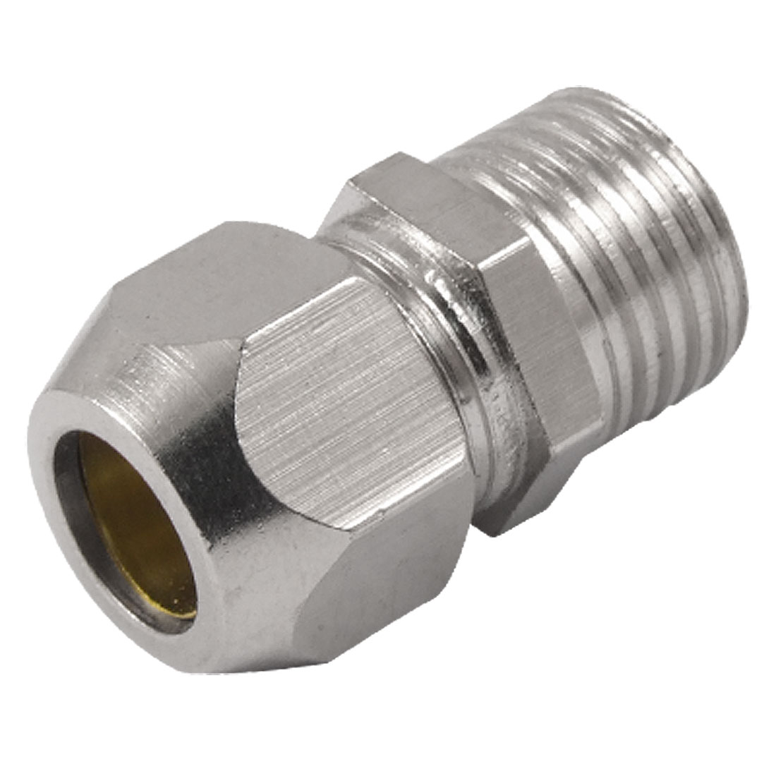 "1/2"" Thread 5/16"" Pneumatic Pipe Compression Fitting Straight Coupler"