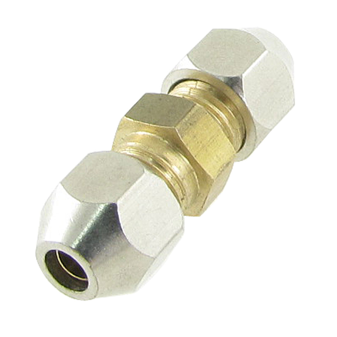 4mm Air Tube Brass Metal Pneumatic Compression Fitting Connector Coupler