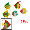 5 Pcs Tank Aquarium Colorful Plastic Tropical Fish Decoration