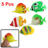 5 Pcs Colorful Plastic Manmade Swimming Fish for Aquarium