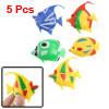5 Pcs Assorted Color Plastic Fish Decoration for Aquarium