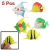5 x Stripe Colorful Plastic Fish Ornament for Aquarium