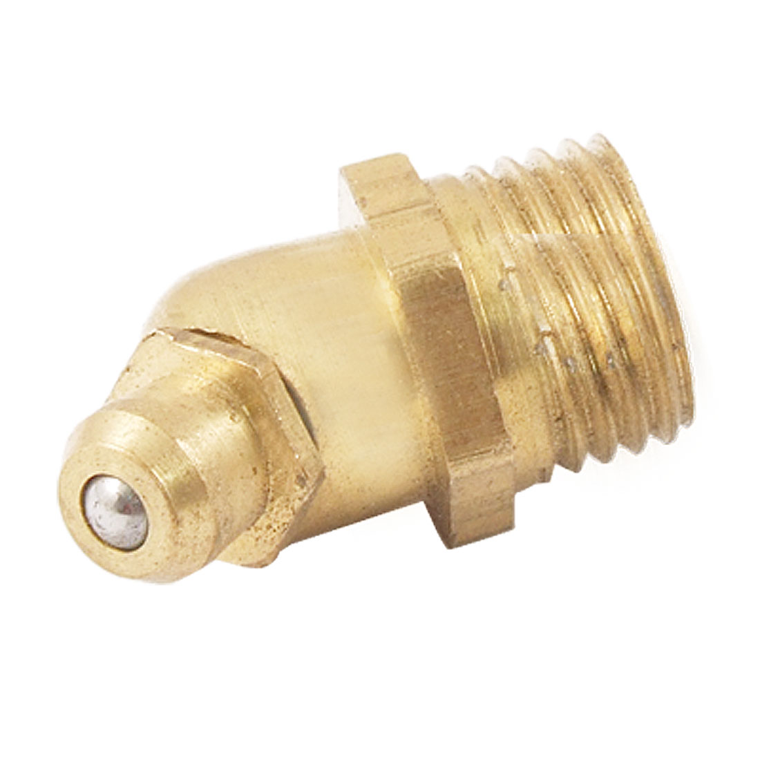 Brass 45 Degree Angle Type 10mm M10 Grease Nipple Zerk Fitting
