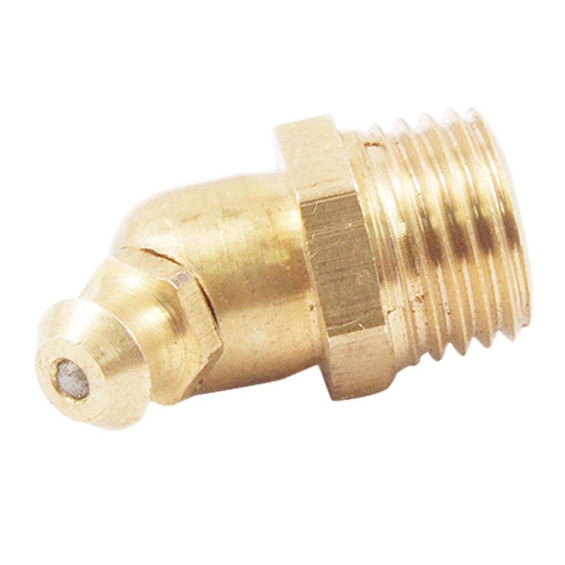 M12 Male Thread 45 Degree Brass Hydraulic Grease Nipple Fitting