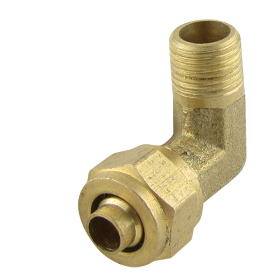 Brass 6 x 8mm Pneumatic Pipe Fitting Quick Coupler Elbow Connector