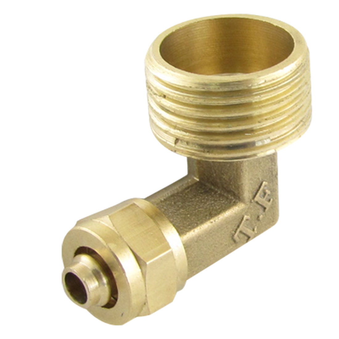 Brass 5.5 x 8mm Pneumatic Pipe Fitting Quick Coupler Elbow Connector