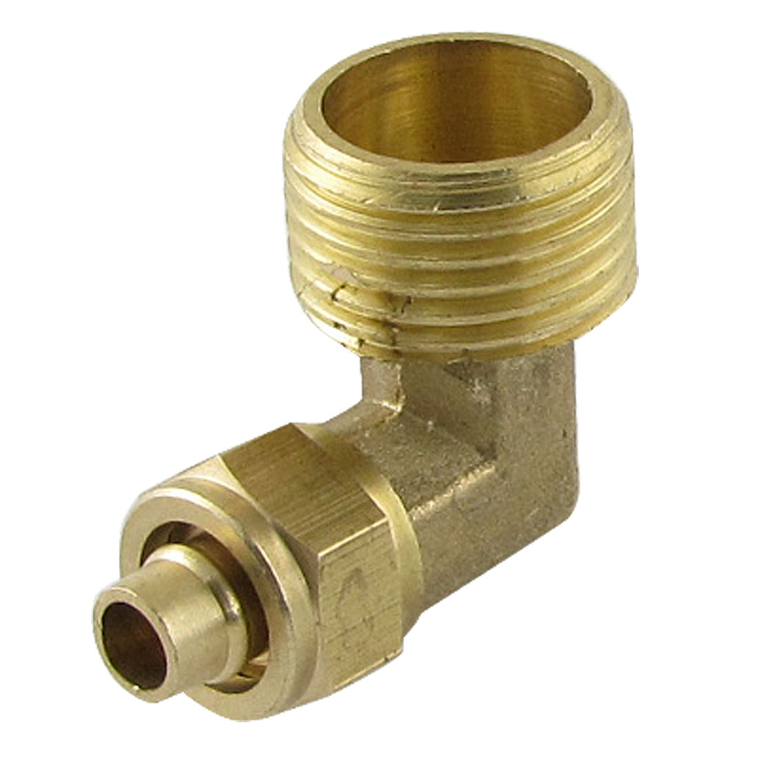 Dual Thread 7 x 10mm Brass Pipe Connector Quick Coupler