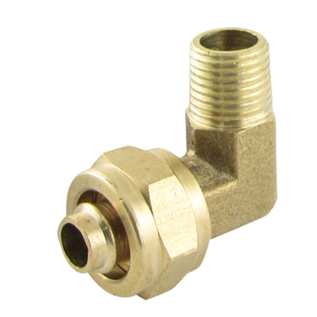 Brass Piping 6.5 x 10mm Tube Joint Elbow Connector Quick Coupler