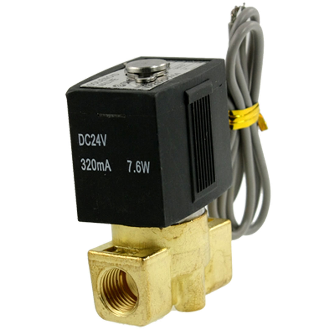 "DC 24V 320mA 7.6W 1/4"" Thread Dia. 2 Port 2 Position Solenoid Valve"