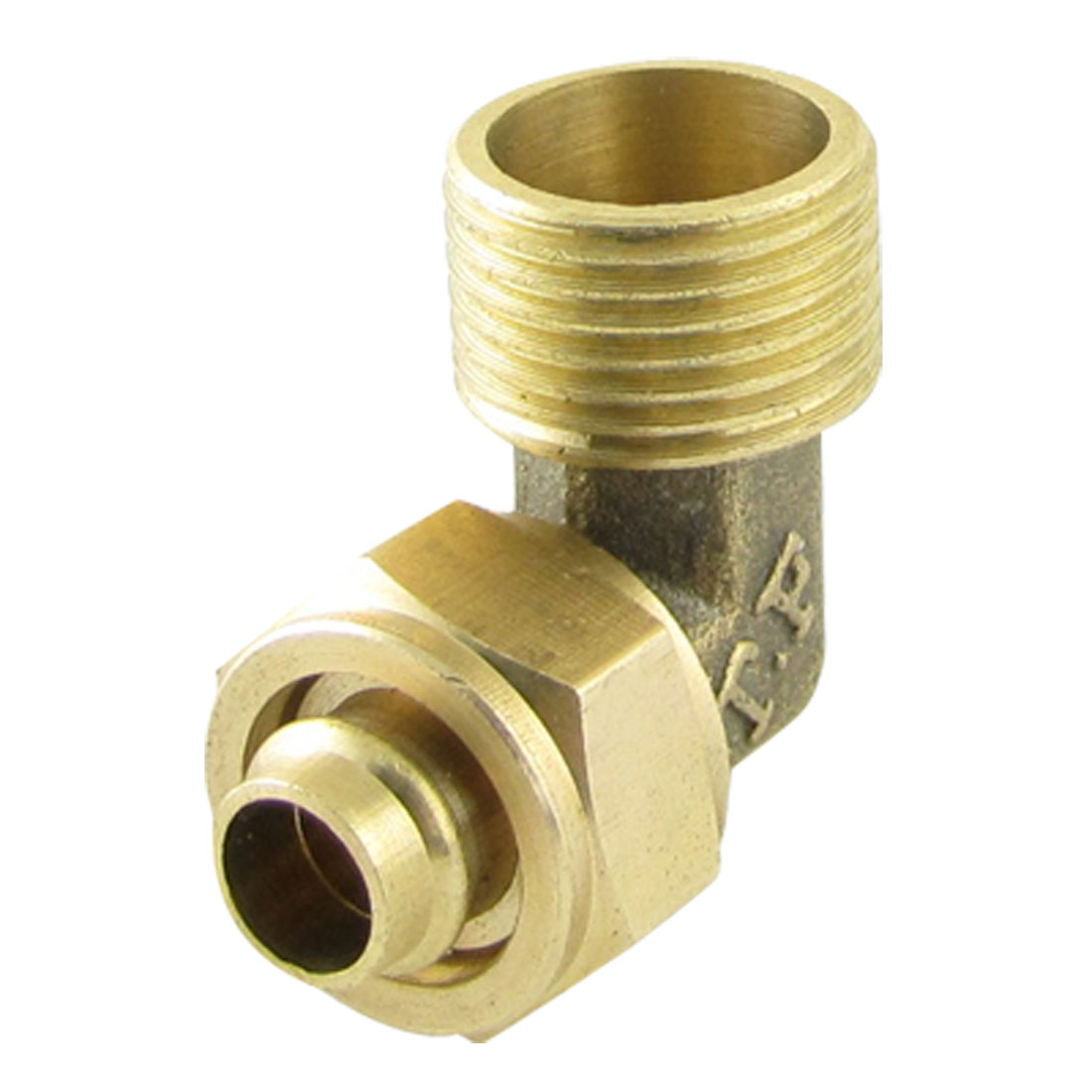 Brass 8 x 12mm Pneumatic Pipe Tube Quick Coupler Elbow Connector