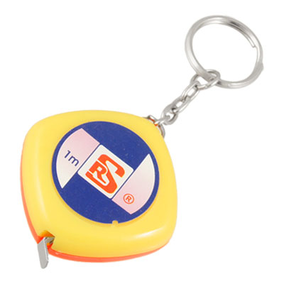 3FT 39 Inches 1 Meter Yellow Pink Case Tape Measure Keyring Key Chain