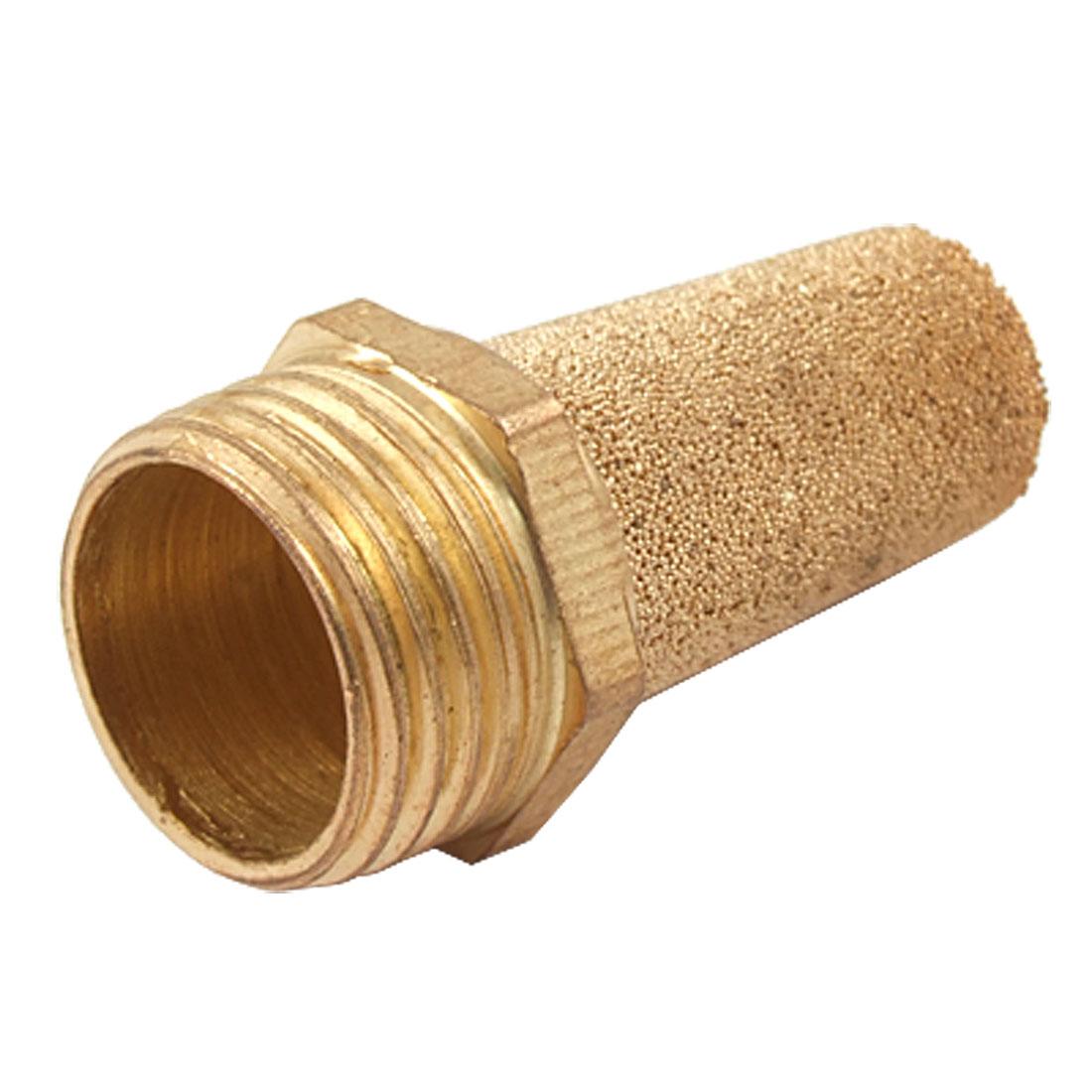20mm Thread Brass Cylinder Pneumatic Sound Eliminator Muffler