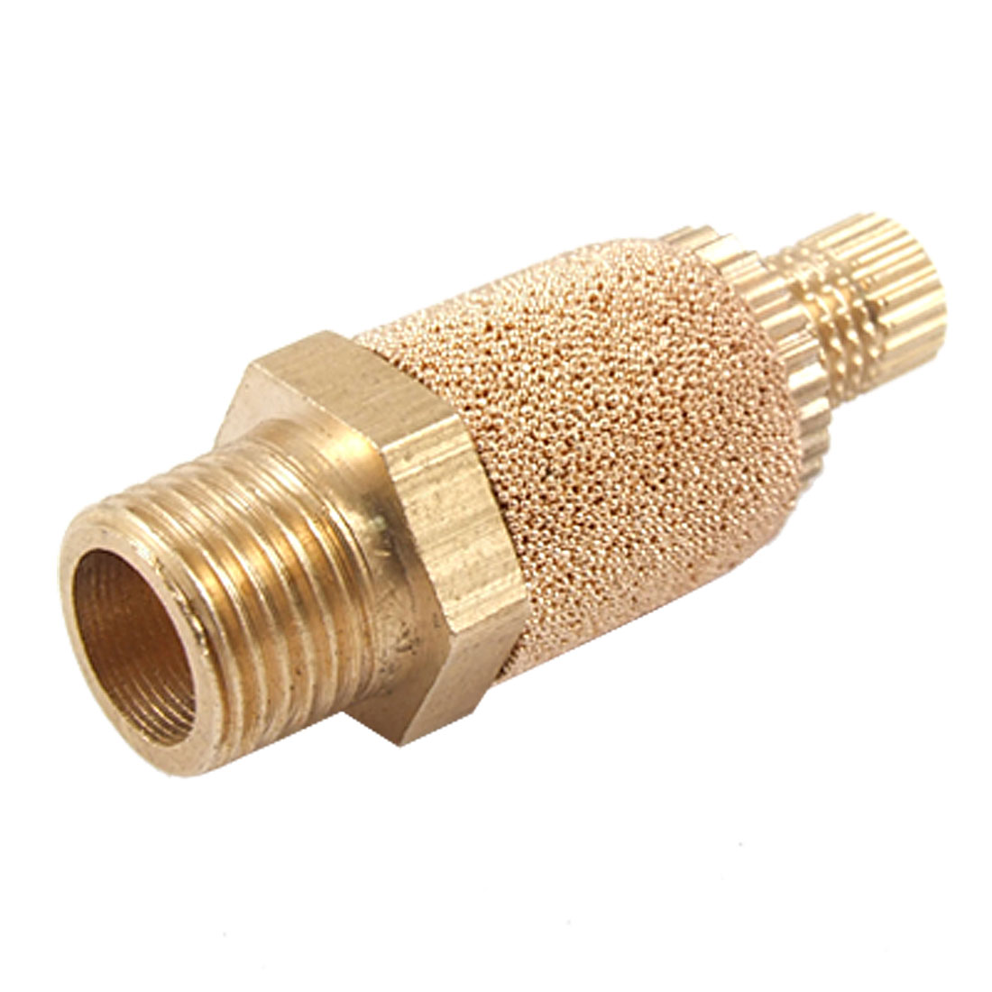 "3/8"" Male Thread Brass Adjustable Nut Muffler Silencer"