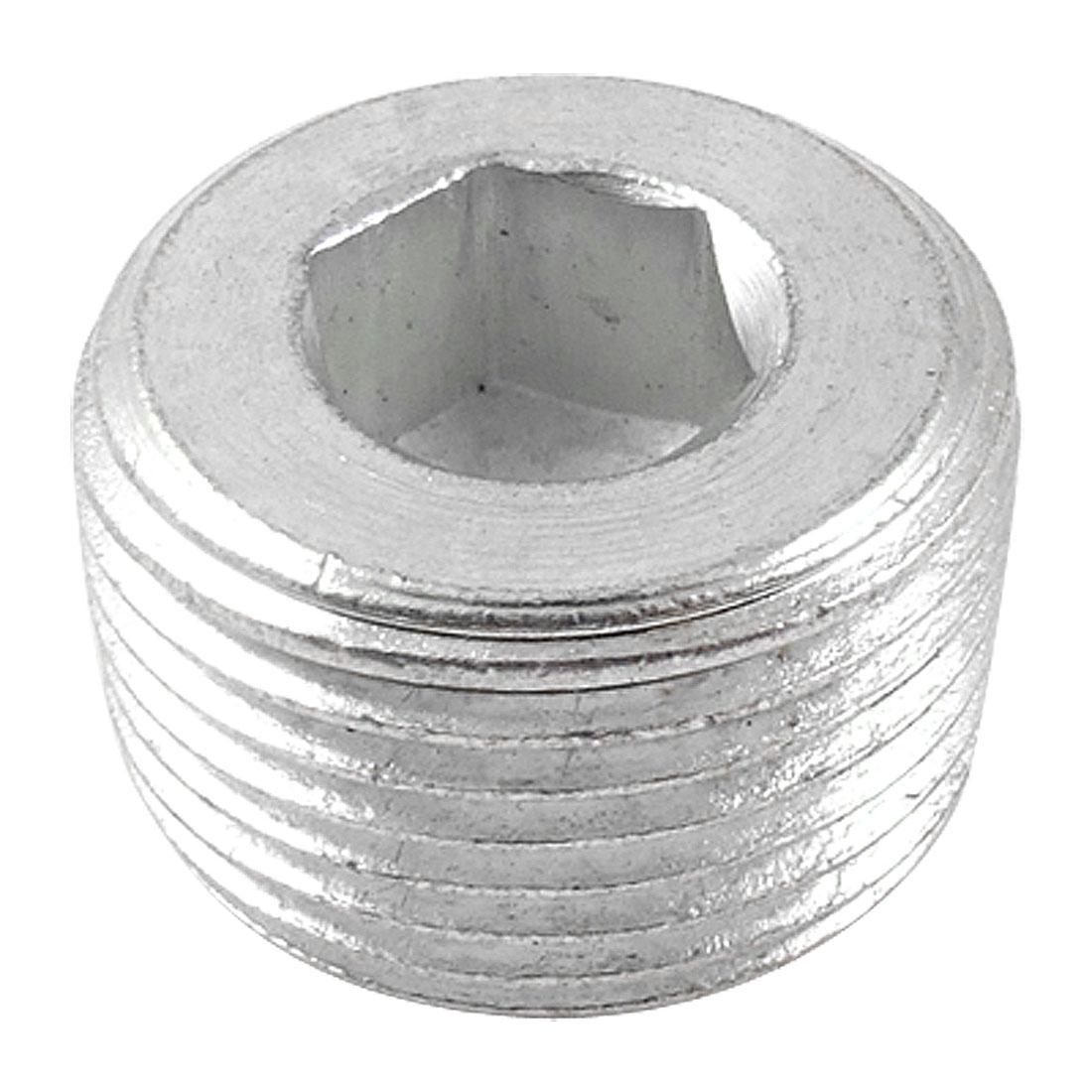 "Metal Internal Hex Head 1 1/3"" Thread Diameter Pipe Connector"