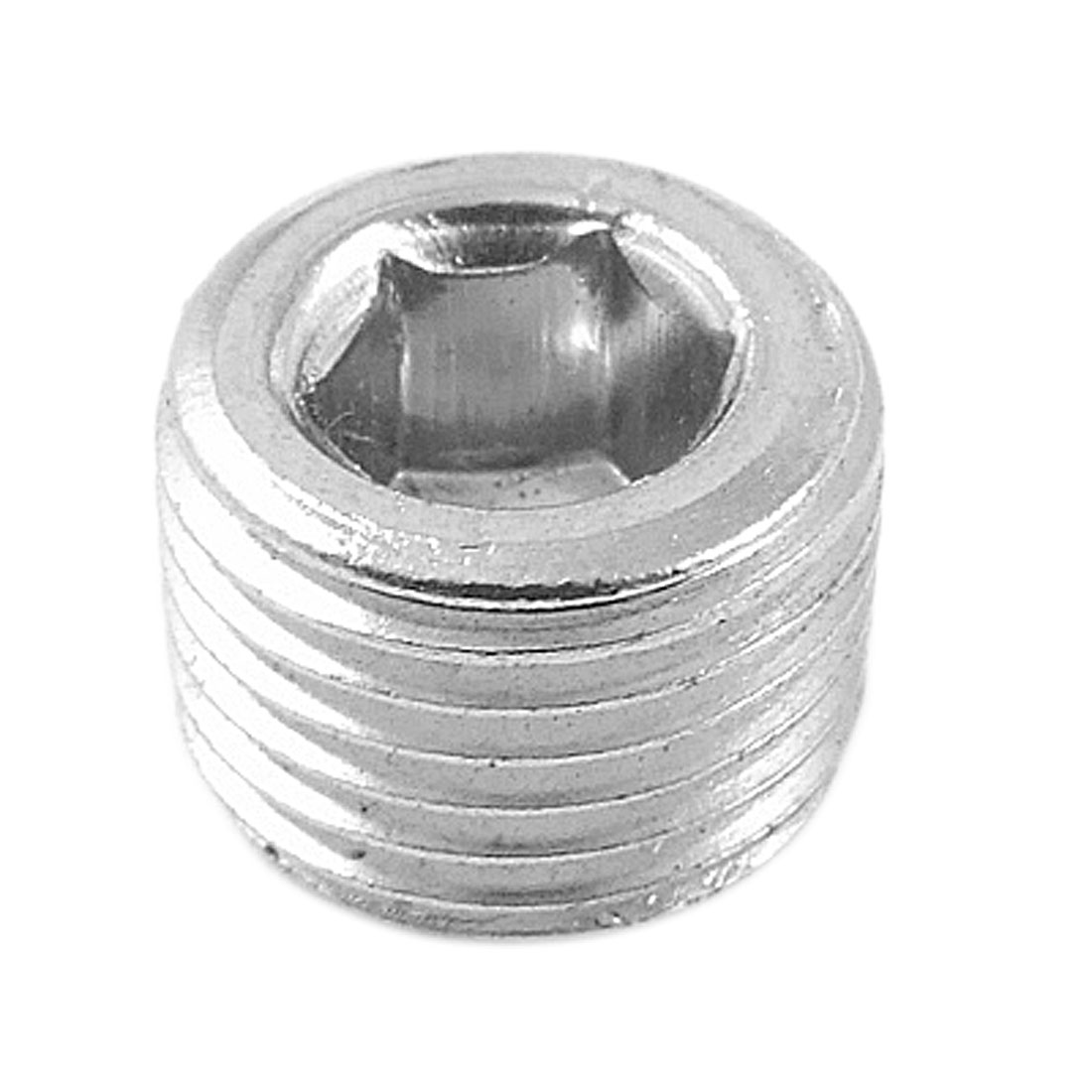 "1/8"" Thread Diameter Metal Internal Hex Head Socket Pipe Plug"