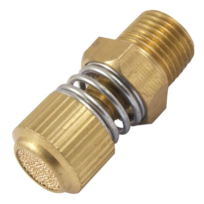 "3/8"" Male Thread Pneumatic Exhaust Silencer Muffler Brass Fitting for Valve"