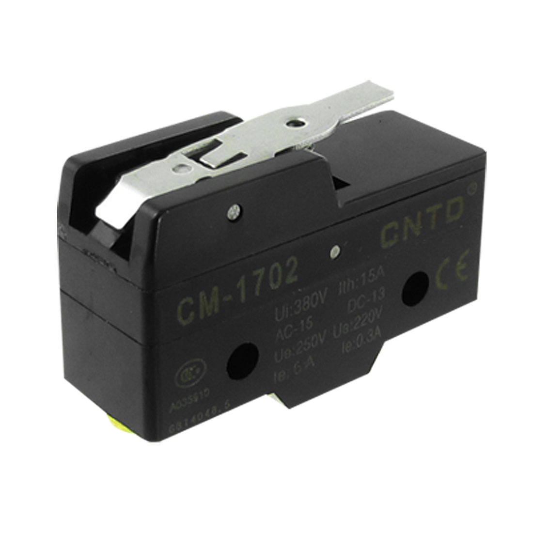 CM-1702 Ui 380V Ith 15A Short Hinge Lever 1 NO 1 NC Micro Switch