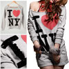 Woman Gray Long Sleeve Sequin Lettered Sweatshirt w Shorts Suit XS