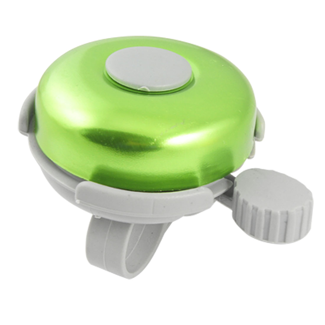 Bike Bicycle Bell Ring Round Green Gray Plastic Sound Alarm 2.4""