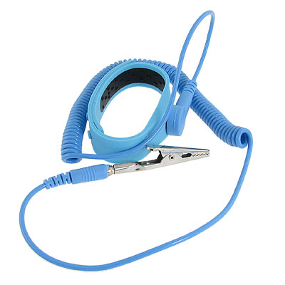 ESD Discharge Anti-static Wrist Strap Baby Blue Silicone