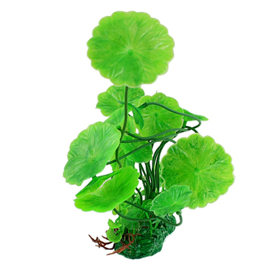 """Fish Tank Aquarium Plastic Green Plant Ornament 6.7"""""""