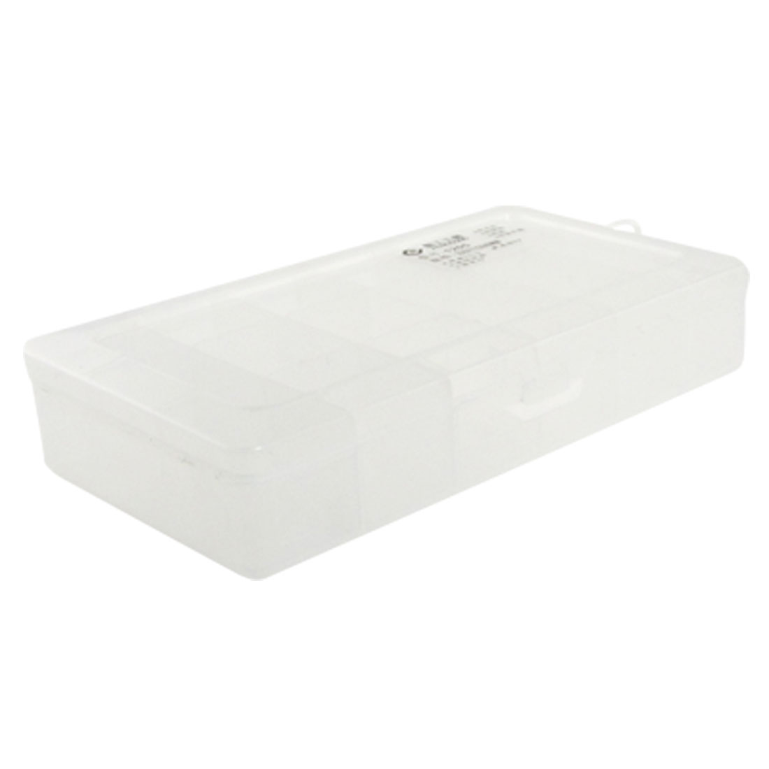 Clear White Plastic 15 Compartments Electronic Components Box