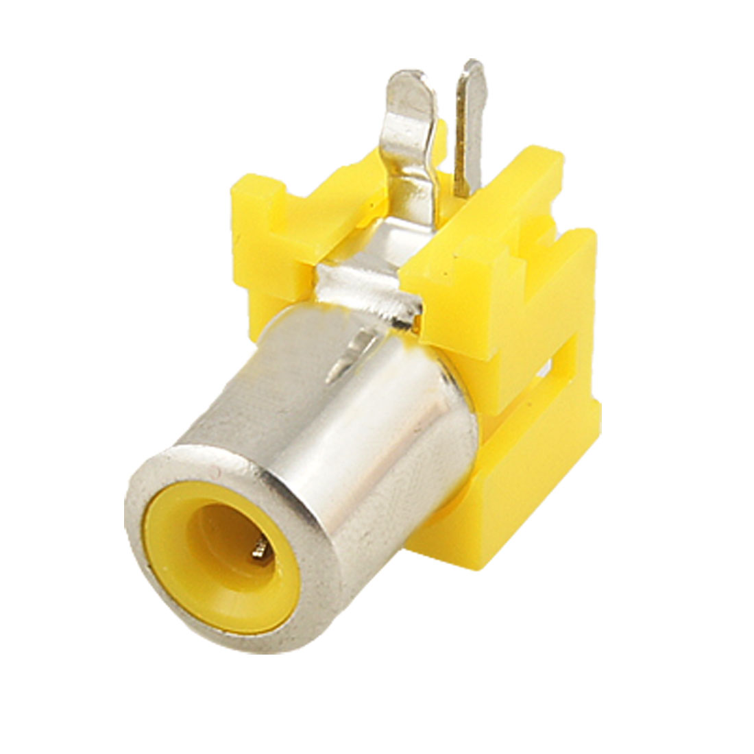Solder Type Right Angle Single Female Jack RCA Socket Yellow