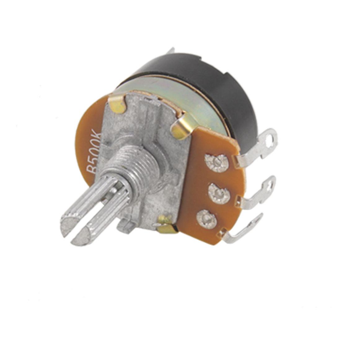 WH138 1/2W Power Single Linear Switch Carbon Potentiometer 500K Ohm B500K