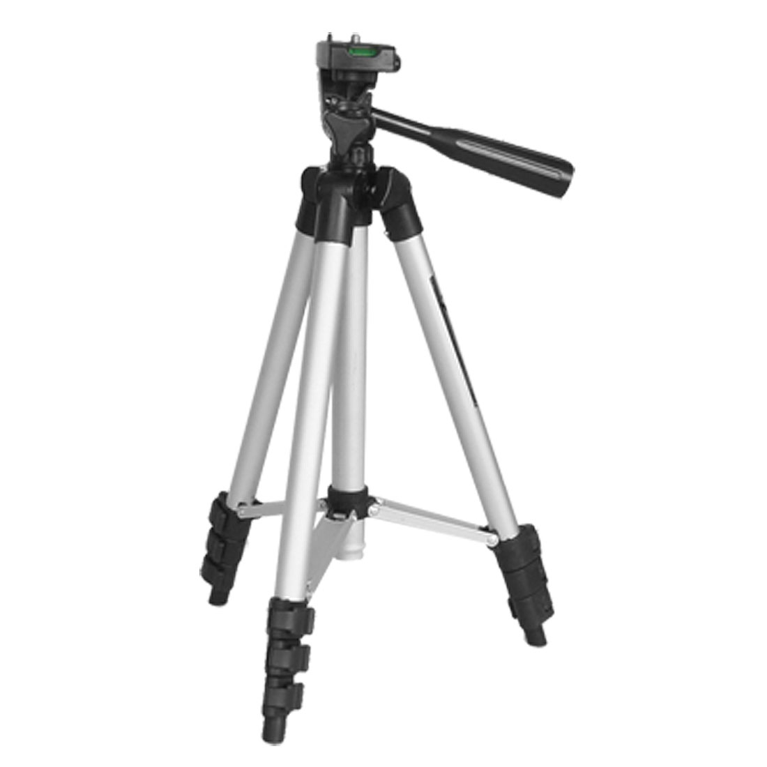 Silver Tone Black 3 Way Head Camera Video Camcorder Tripod Support 3.3Ft Height