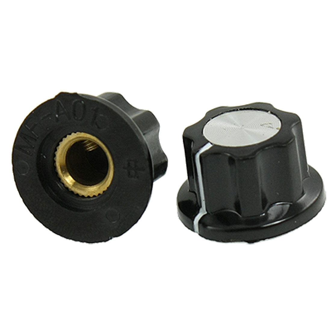 "2 Pcs 15/64"" Shaft Hole Dia Potentiometer Control Volume Knob"