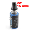 5% Tolerance 1K Ohm 2W 5 Pins Rotary Wirewound Potentiometer w Knob