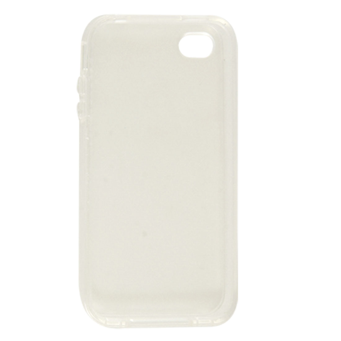 Protective Smooth Soft Platic Cover Clear White for iPhone 4 4G