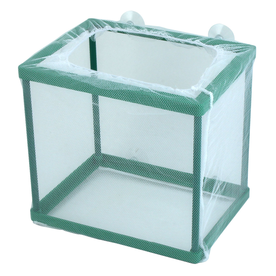 Fish Tank Aquarium Frame Net Fry Hatchery Breeder White 17 x 12.7 x 16.3cm