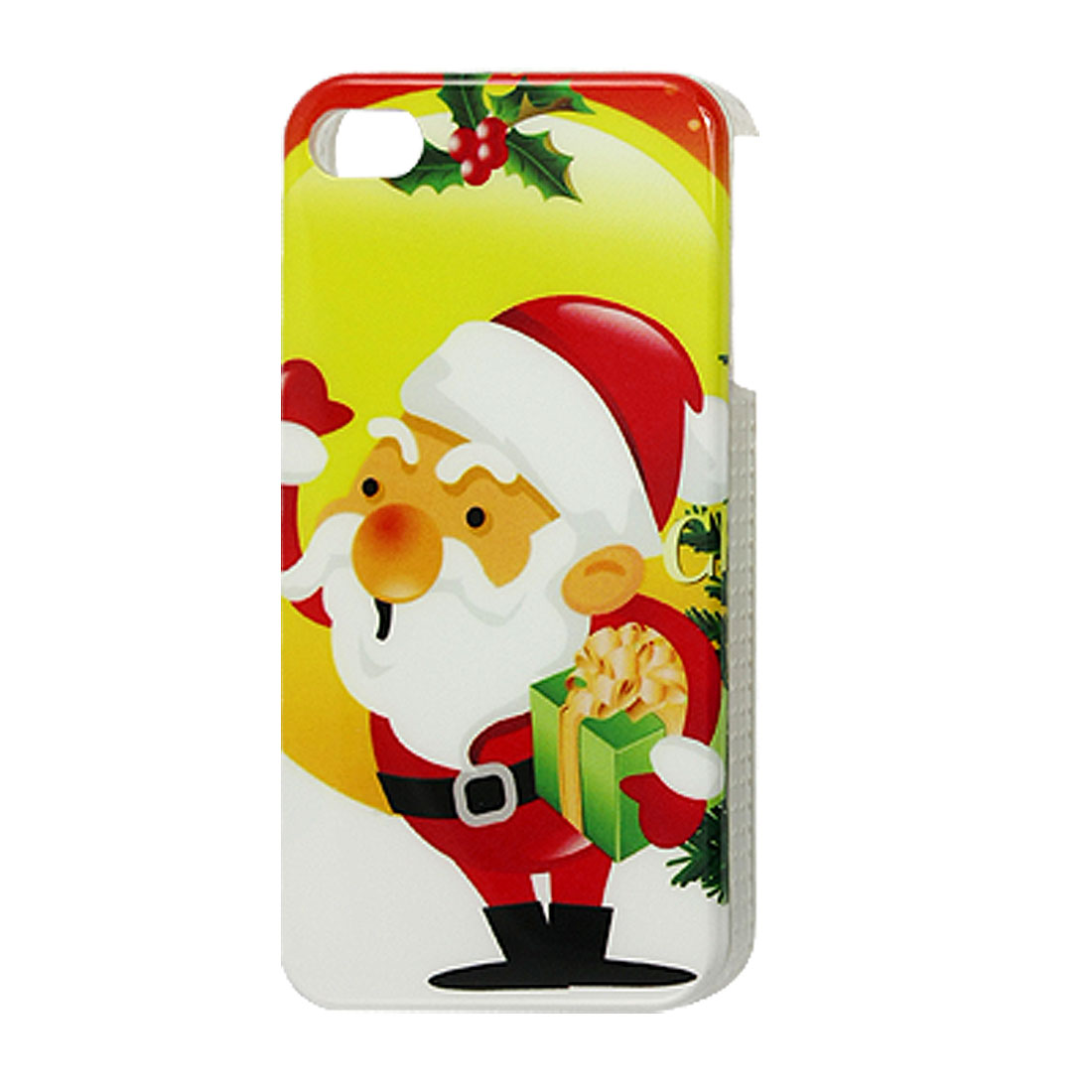 Colorful Santa Claus Print IMD Back Case Cover for iPhone 4 4G 4S