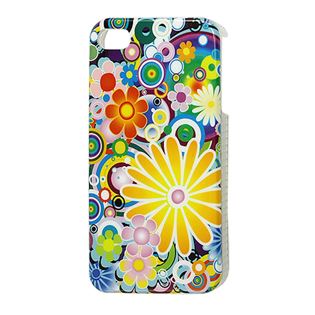 Multicolor Flowers Pattern IMD Hard Case Cover Shell for iPhone 4 4G 4S
