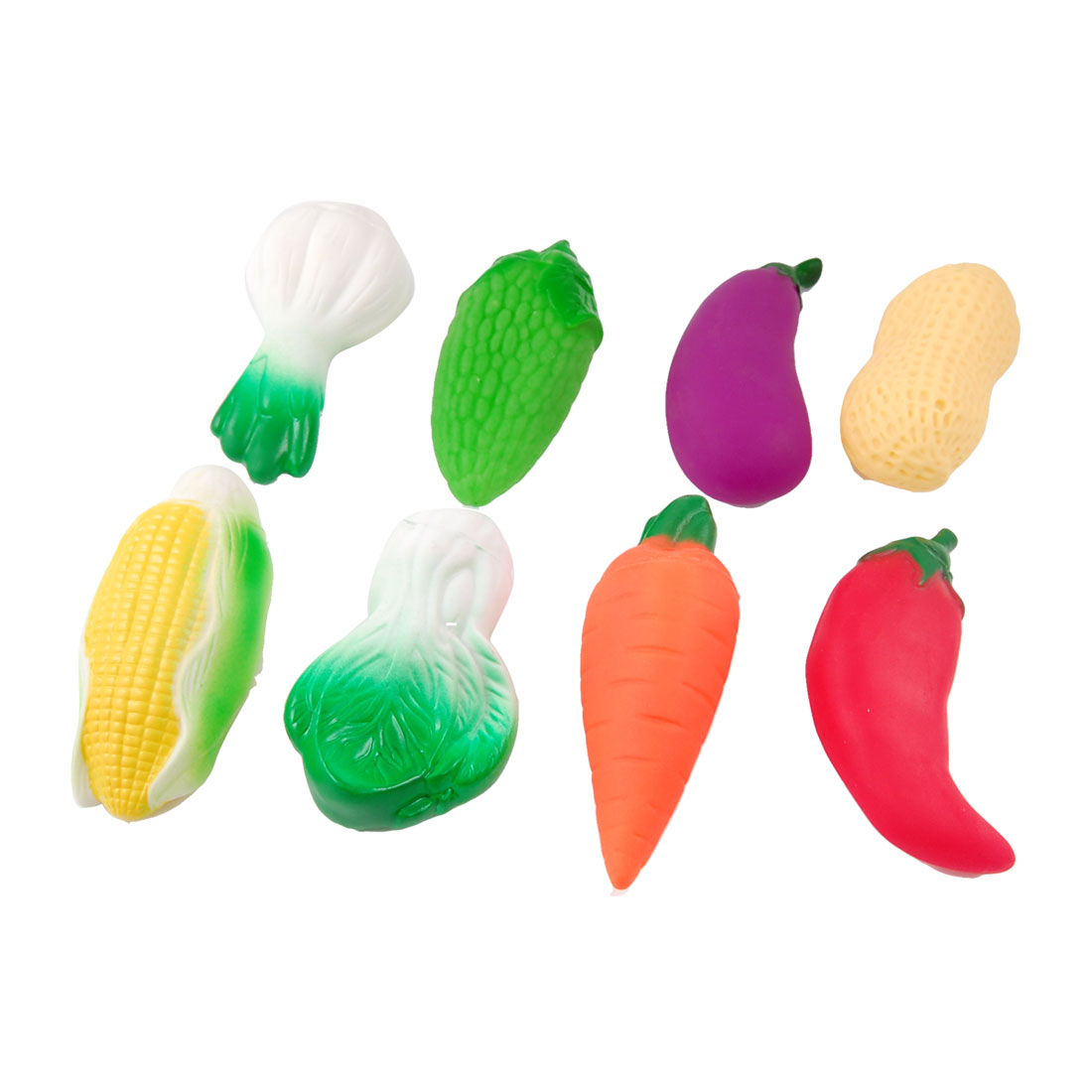 8 in 1 Artificial Colorful Vegetable Sound Squeaky Toy for Children