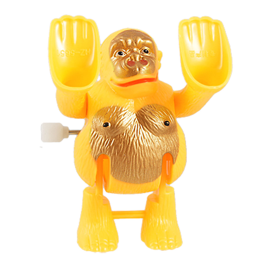 Yellow Plastic 360 Degree Wind up Somersault Monkey Toy for Children