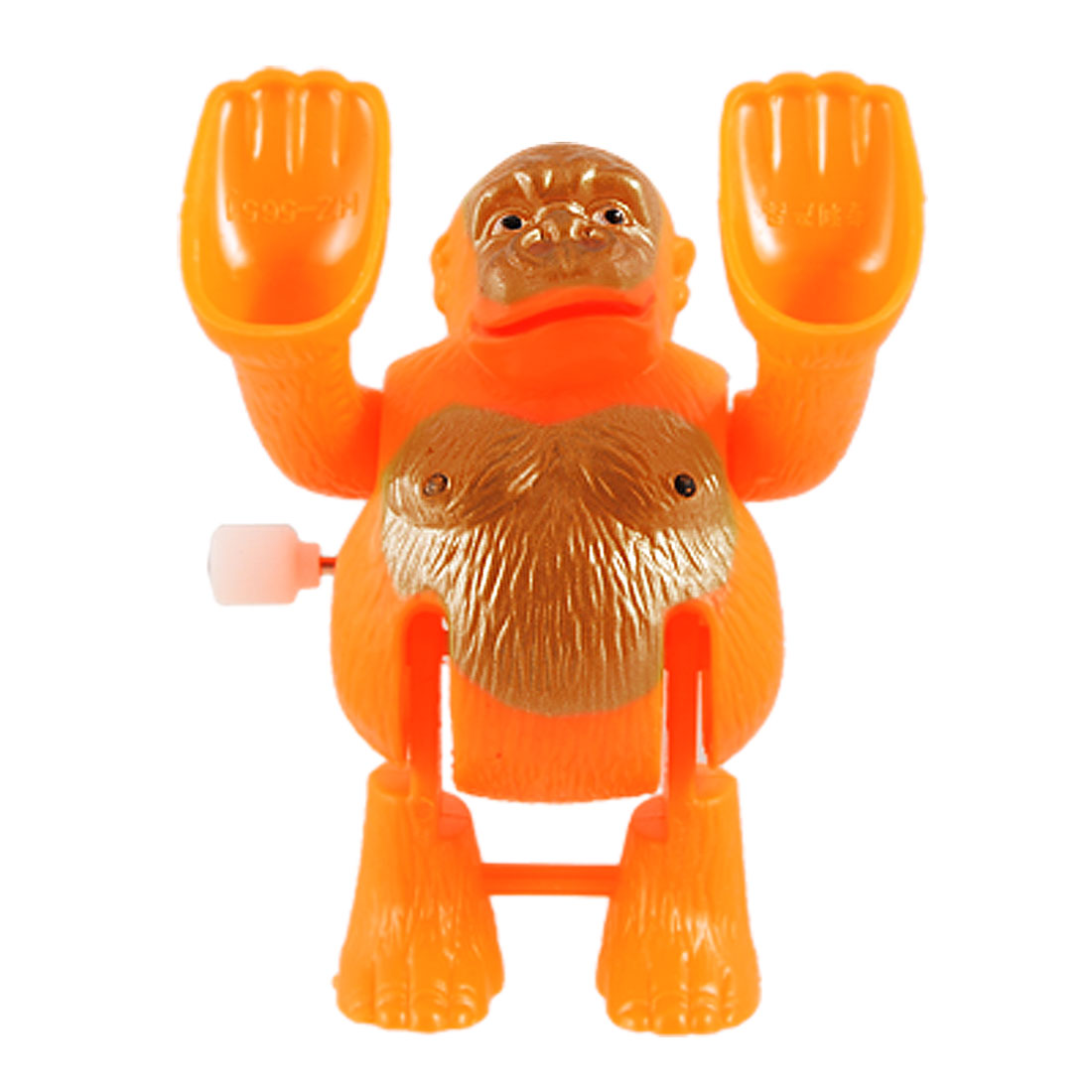 Children Clockwork Spring Tumbling Somersault Cartoon Monkey Toy Orange