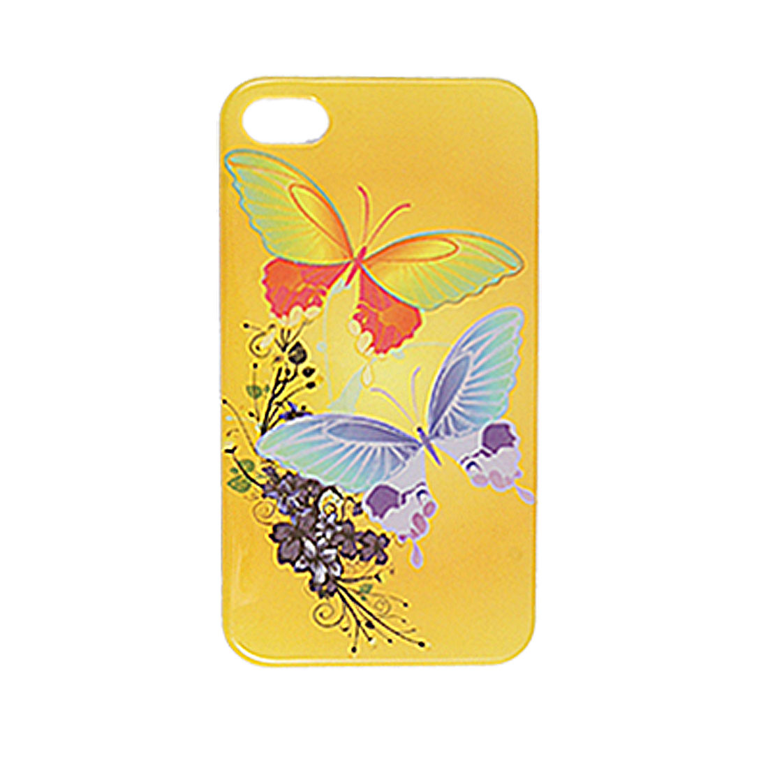 Butterfly Floral Hard IMD Plastic Protector Cover for iPhone 4 4G 4S