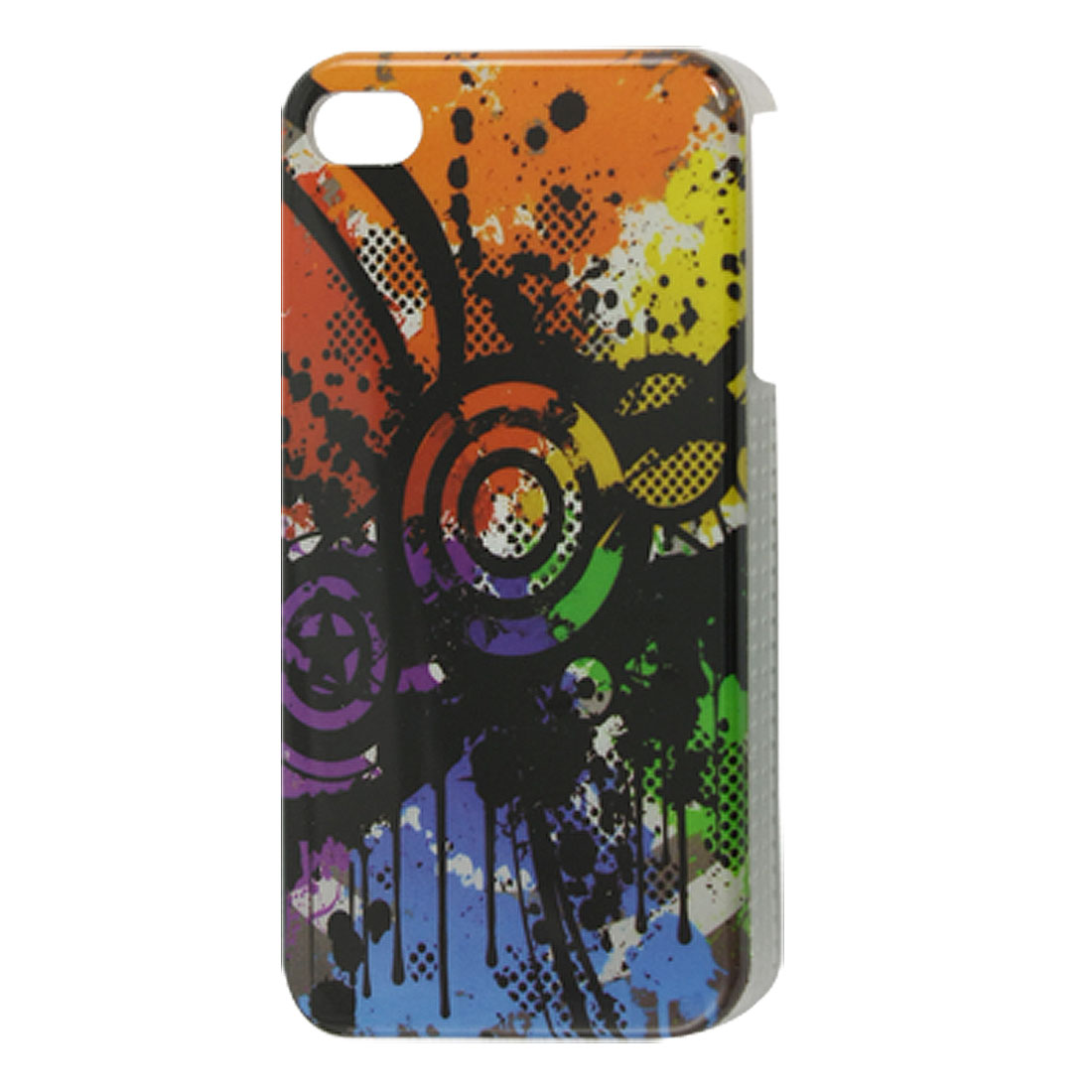 Colorful Star Circle Print IMD Back Case Cover for iPhone 4 4G 4S