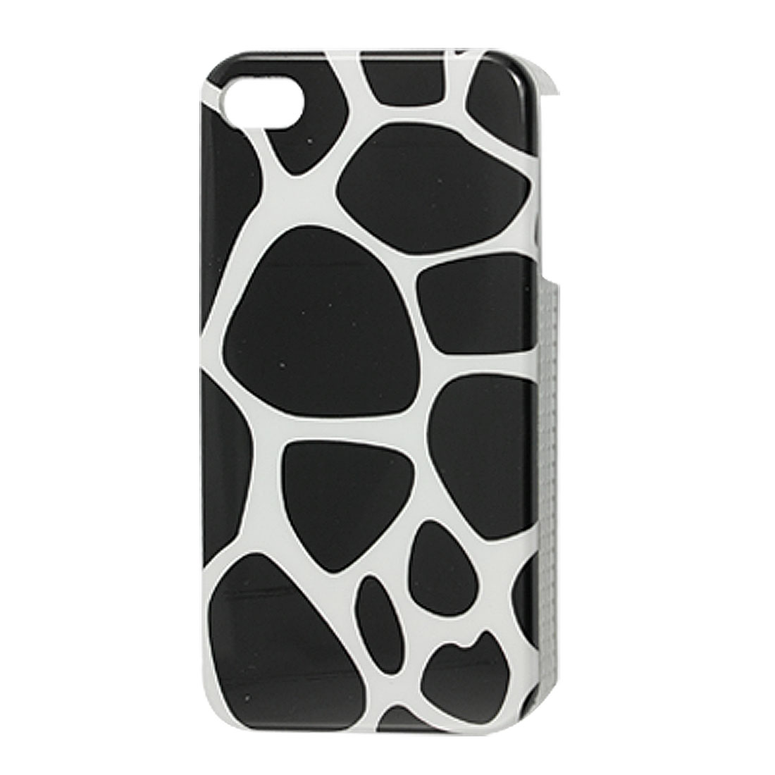 Black White Giraffe Pattern Hard Plastic IMD Back Case for iPhone 4 4G 4S
