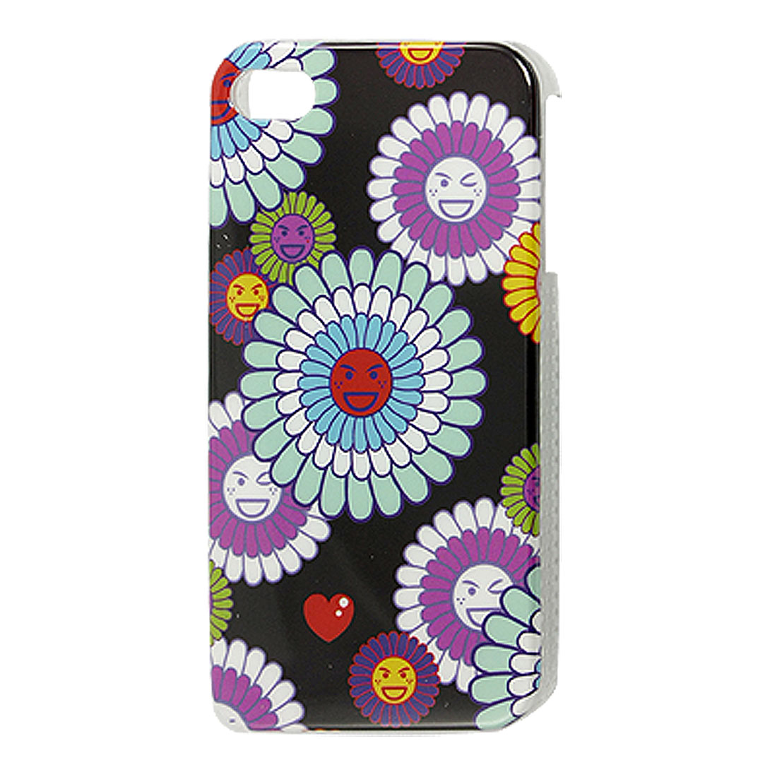 Sunflower Pattern Hard Plastic Back Case Cover for iPhone 4 4G 4S