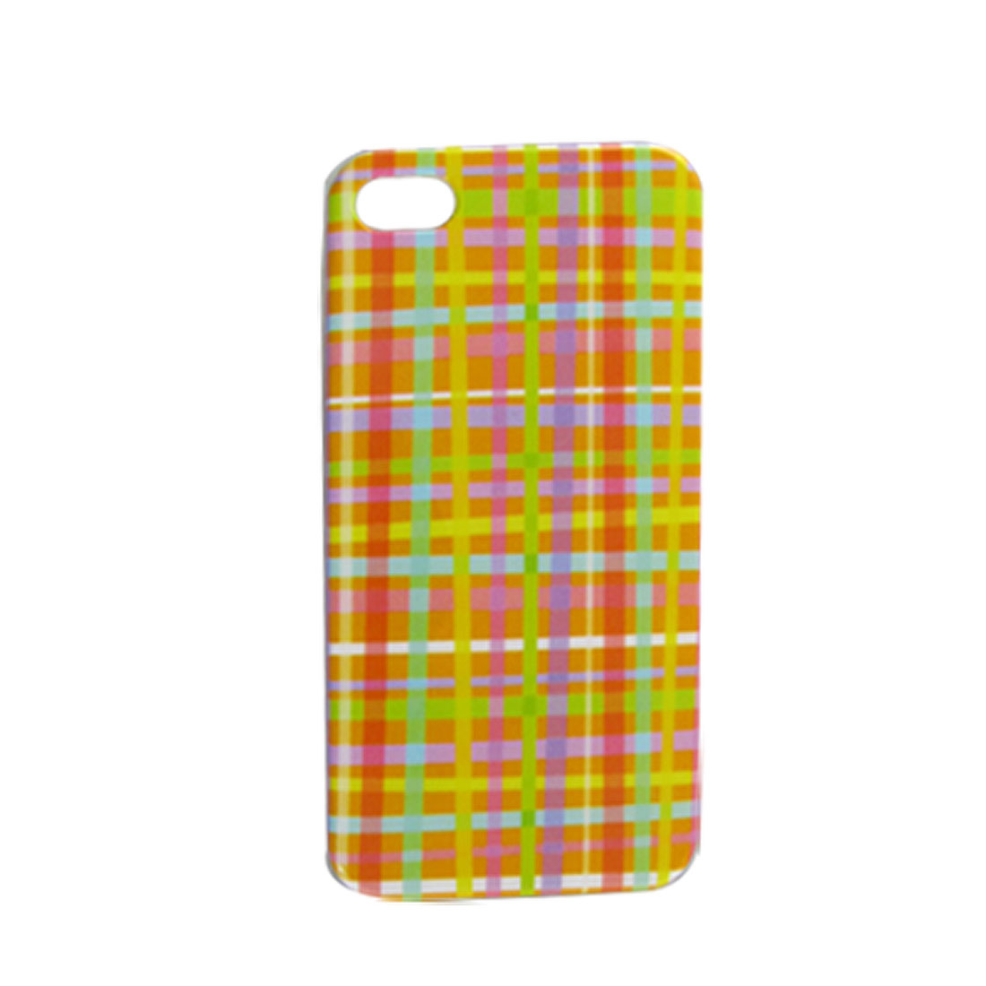 IMD Grid Pattern Hard Plastic Back Case Cover for iPhone 4 4G 4S