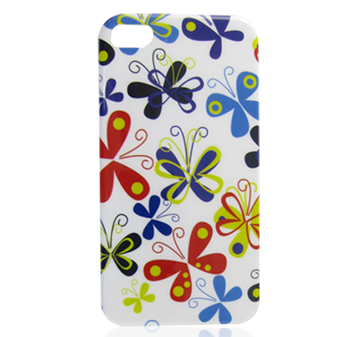Multicolor Butterfly Print IMD Back Cover Case for iPhone 4 4G 4S